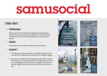 Samusocial – Concept campagne de sensibilisation
